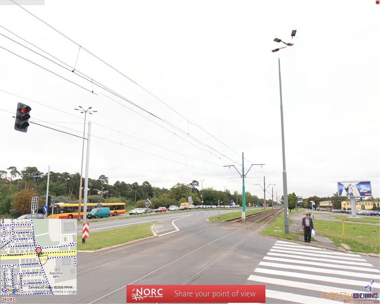 Miejsce wypadku - na ul. Warszawskiej.  Foto: