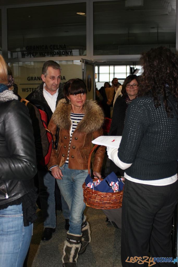 Bagietka z Bowe - powitanie pasażerów  Foto: