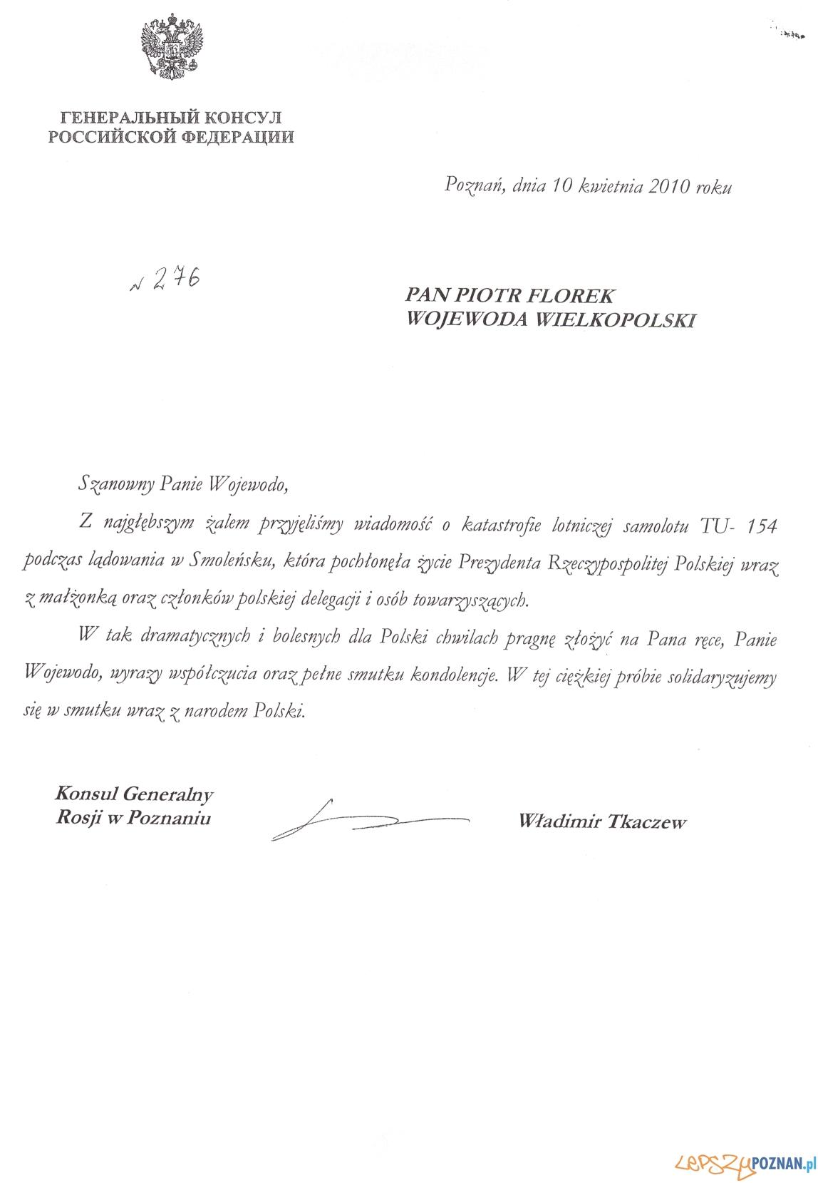 kondolencja Rosja  Foto: