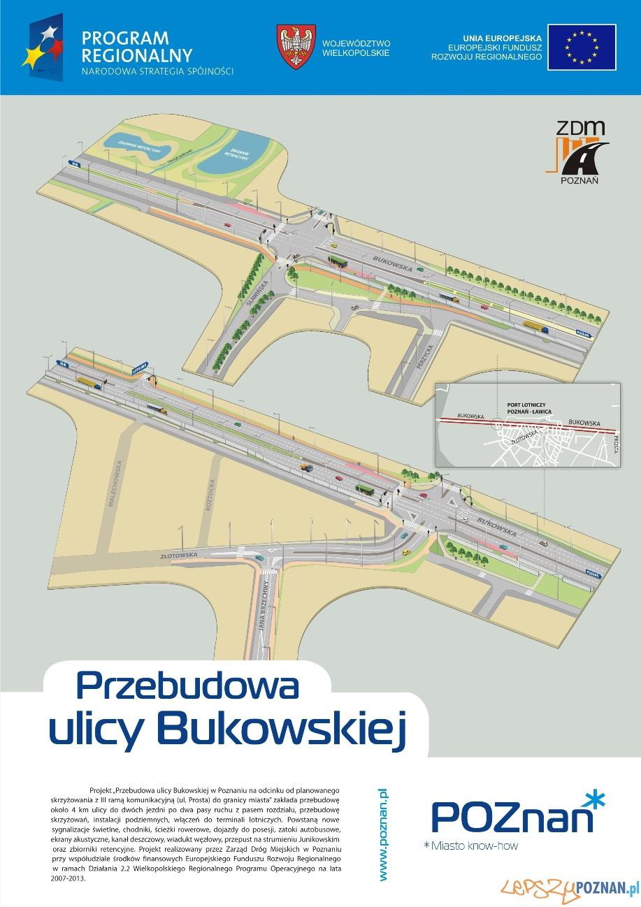 Przebudowa ulicy Bukowskiej  Foto: ZDM