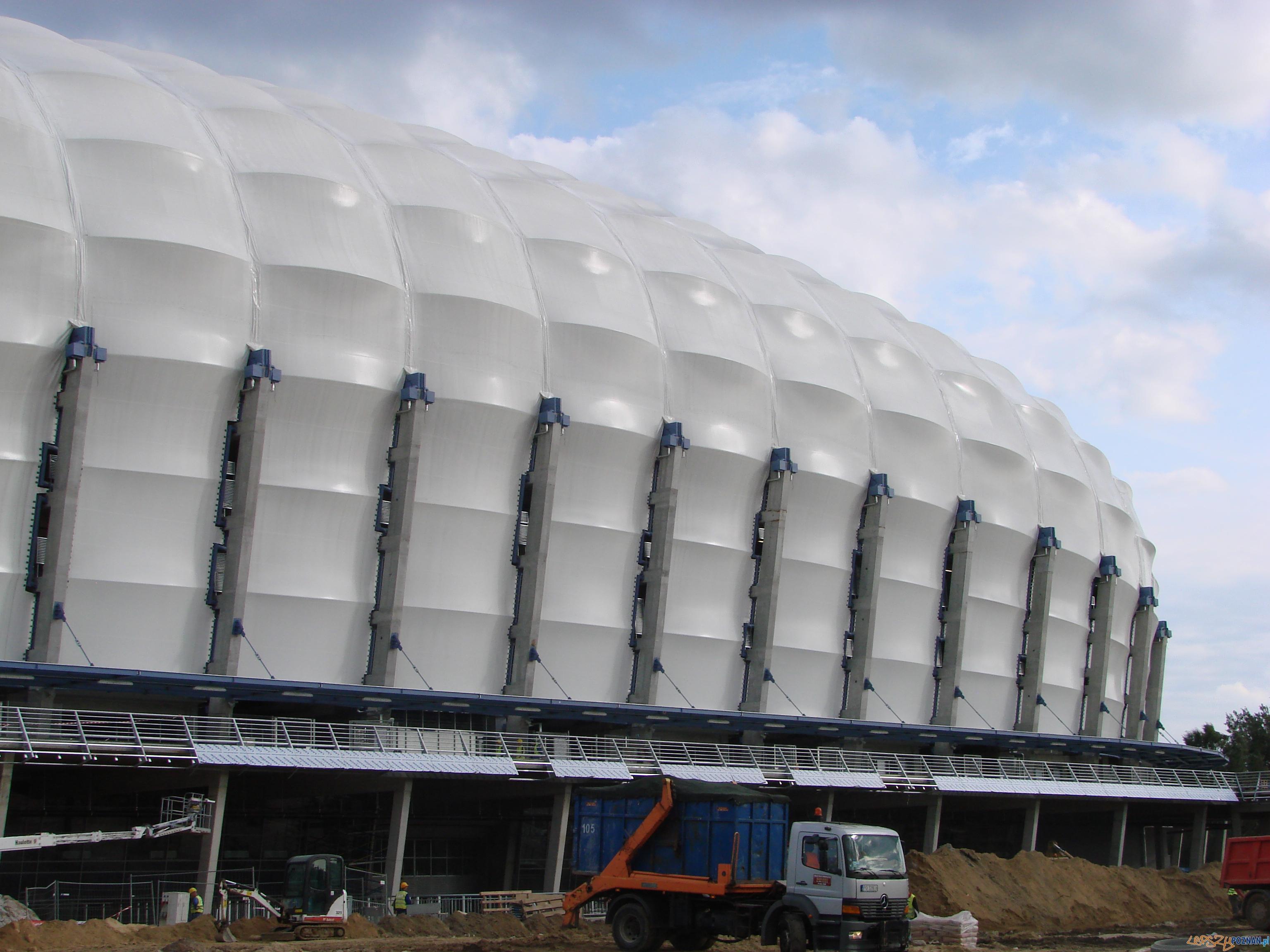 Stadion miejski - budowa jeszcze trwa - foto 25.08.2010  Foto: lepszyPOZNAN.pl / ag