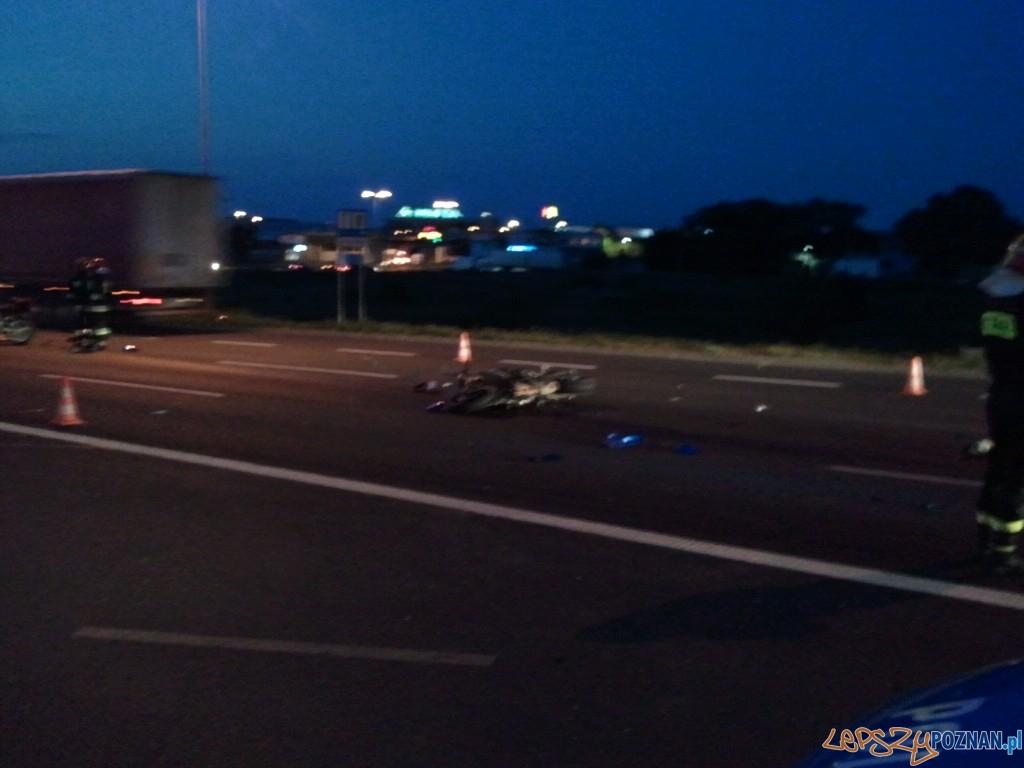 wypadek na Trasie Katowickiej  Foto: lepszyPOZNAN.pl/ag