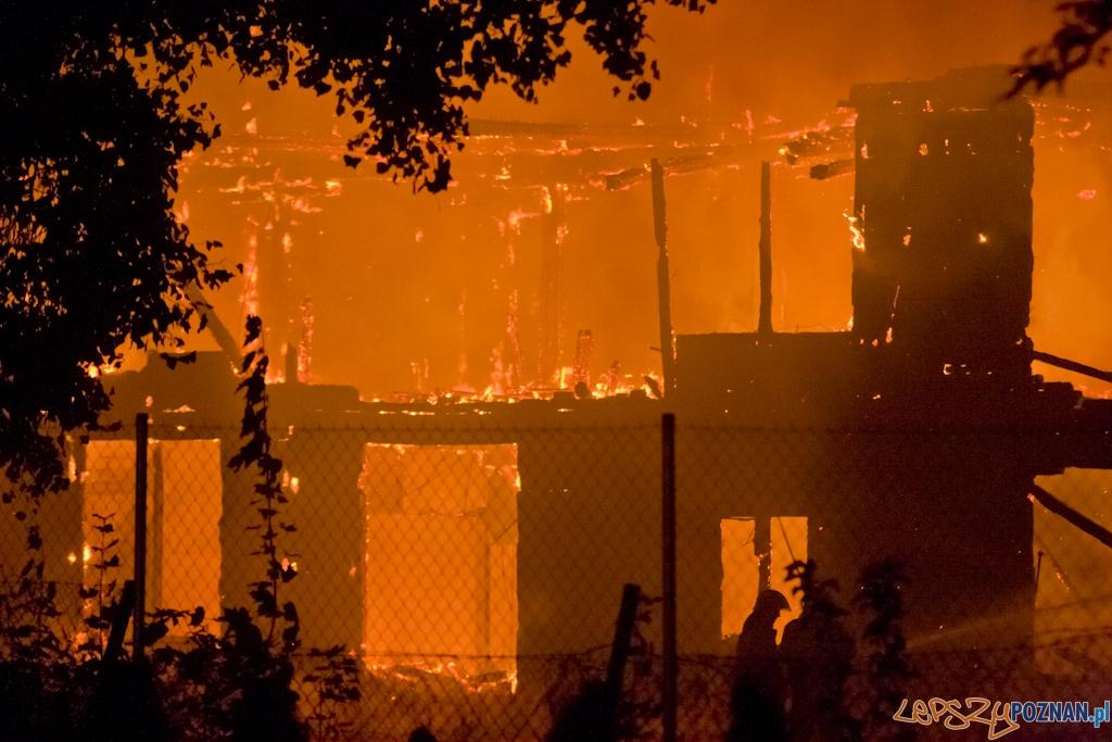 Pożar w centrum Poznania  Foto: Piotr Rychter