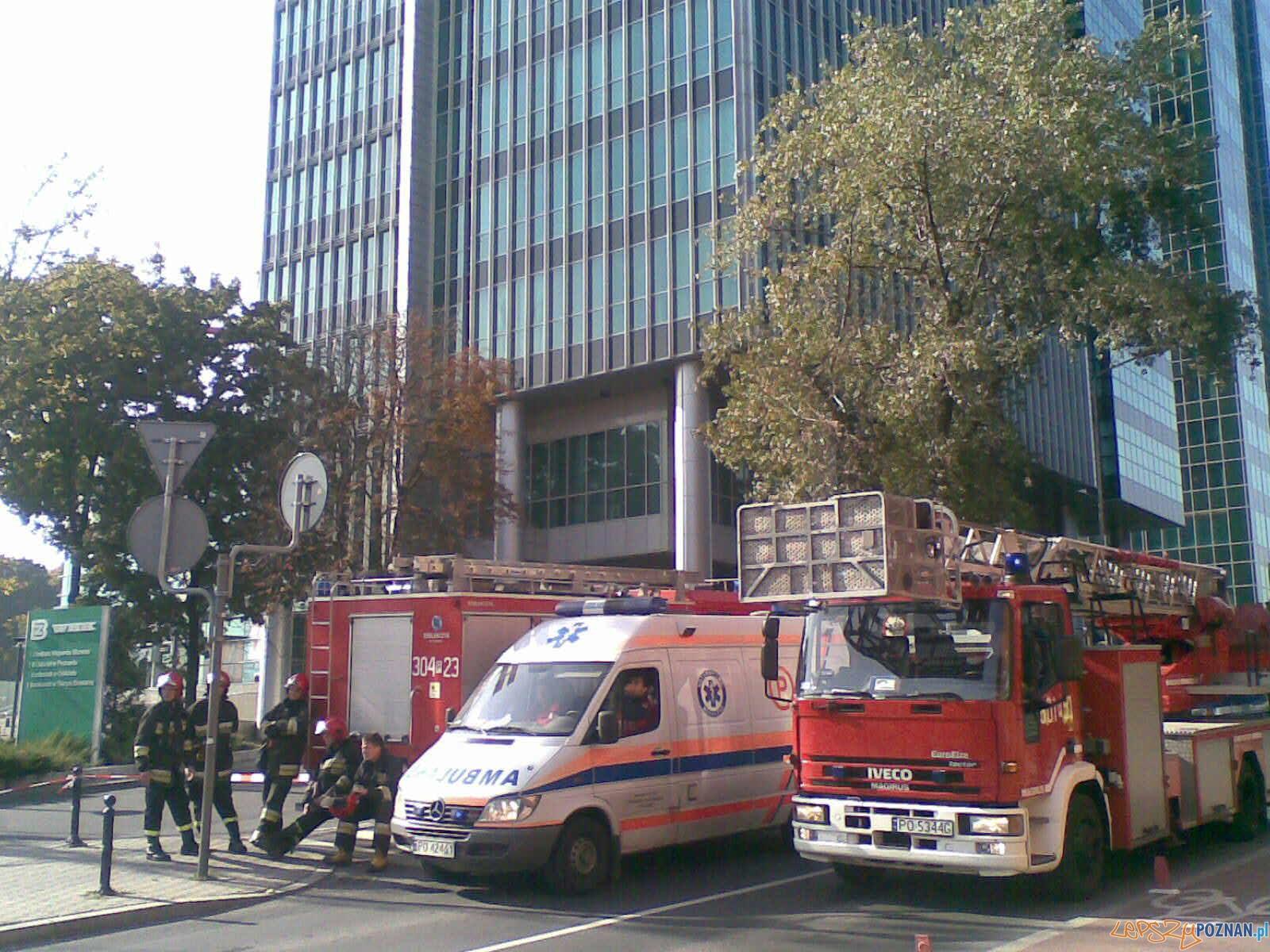 Ewakuacja budynku PFC  Foto: patti