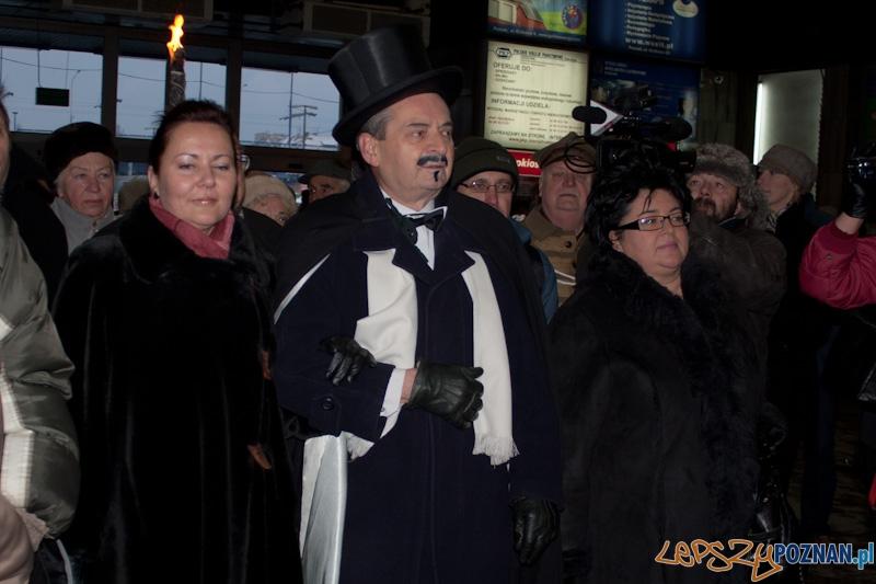 Ignacy Paderewski na Dworcu Głównym - 26.12.2010 r.  Foto: Paweł Rychter