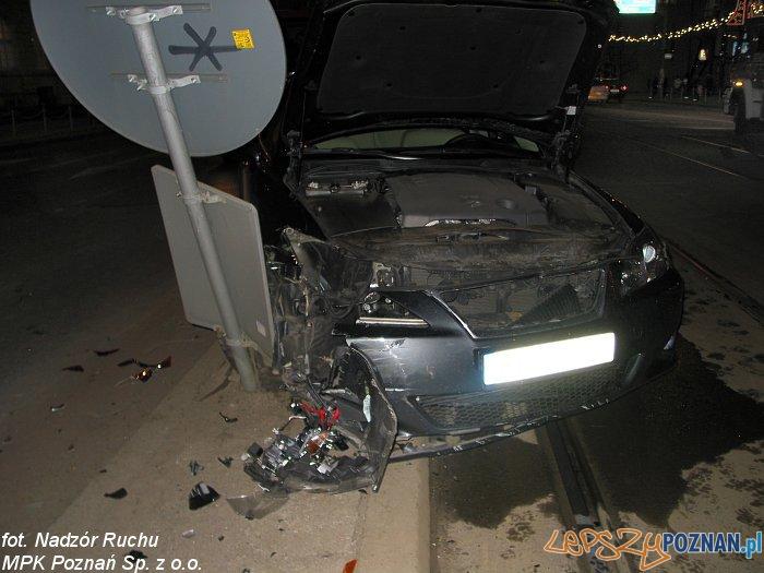 Wypadek na Moście Uniwersyteckim  Foto: MPK