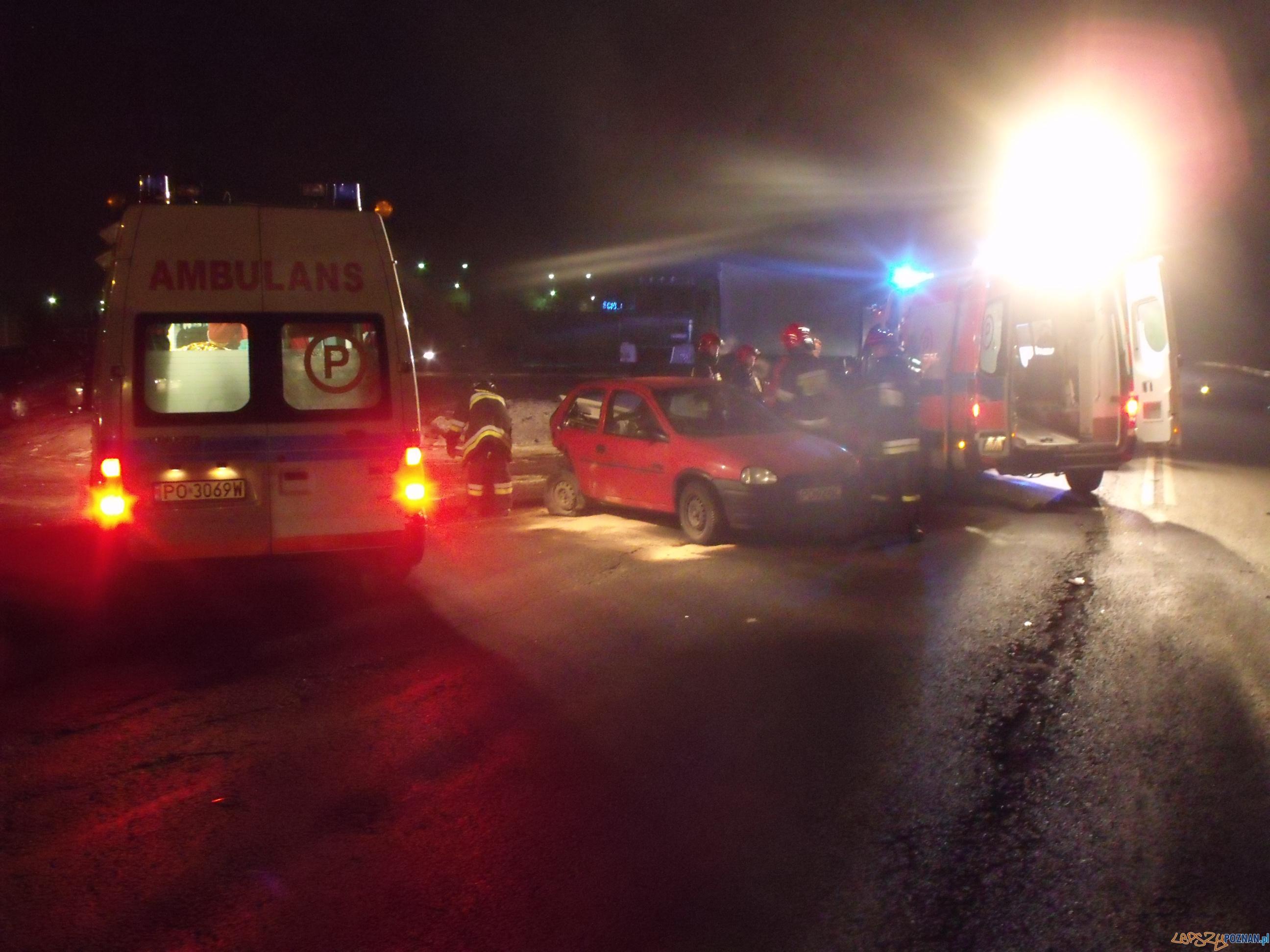 Wypadek na Bałtyckiej  Foto: KM PSP w Poznaniu