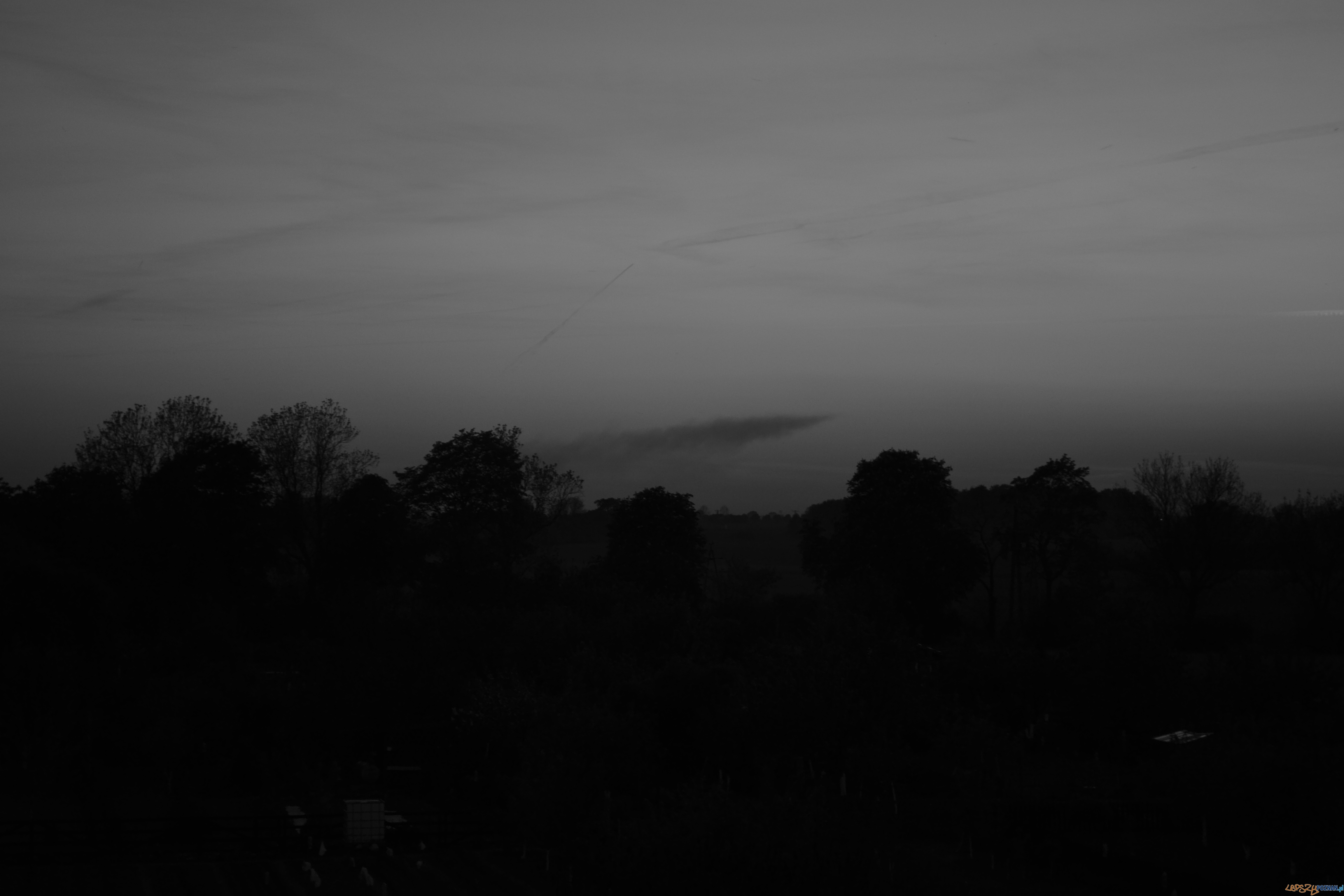 Pożar na Sieradzkiej - widok z ok. 30 km za Kostrzynem  Foto: Ola