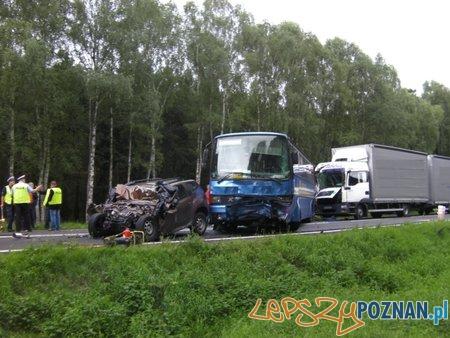 Śmiertelny wypadek w Murzynkowie  Foto: KWP w Poznaniu