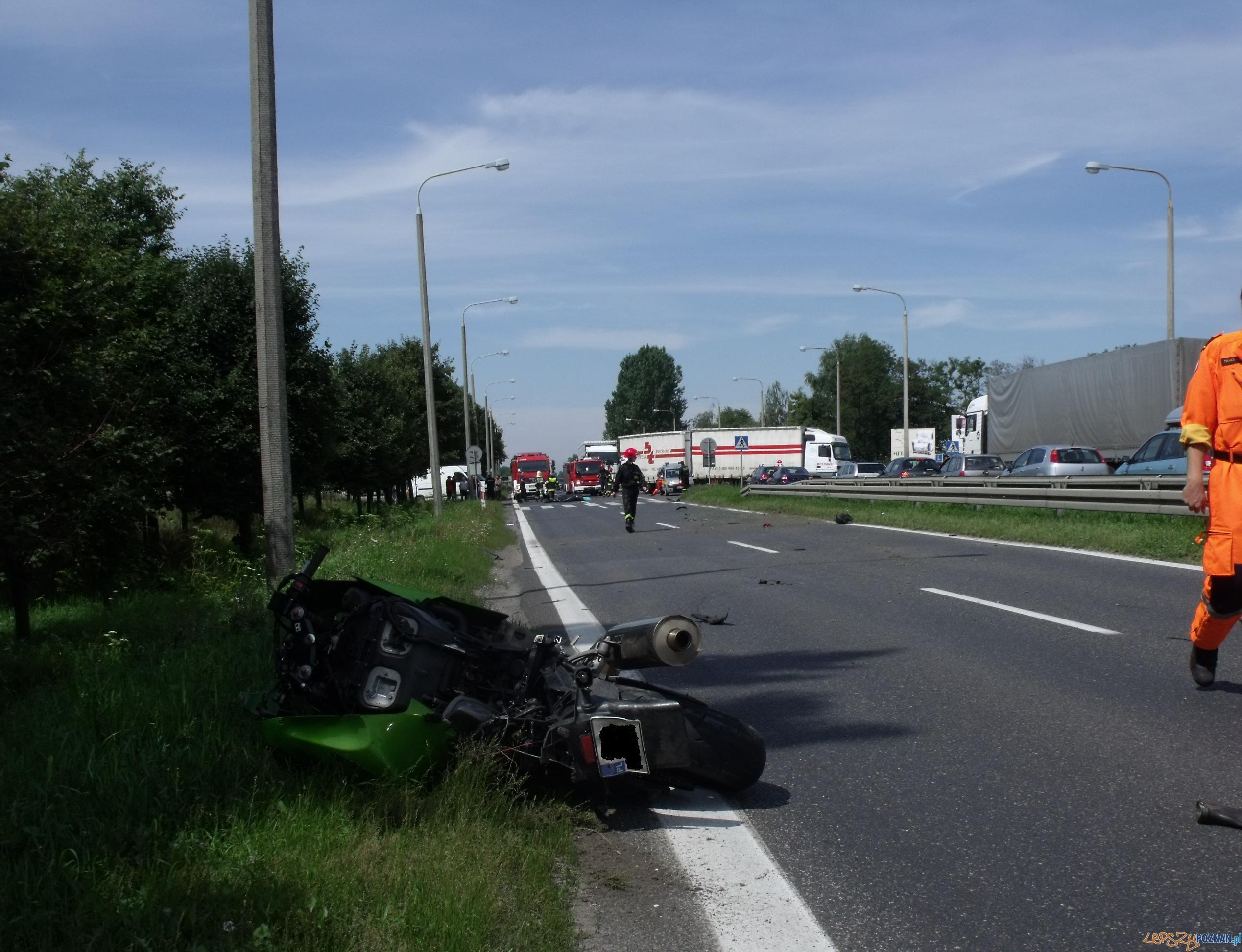 Motocyklista zginął w Paczkowie  Foto: Sławomir Wojciechowski