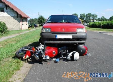w tym wypadku zginął motocyklista  Foto: KWP w Poznaniu