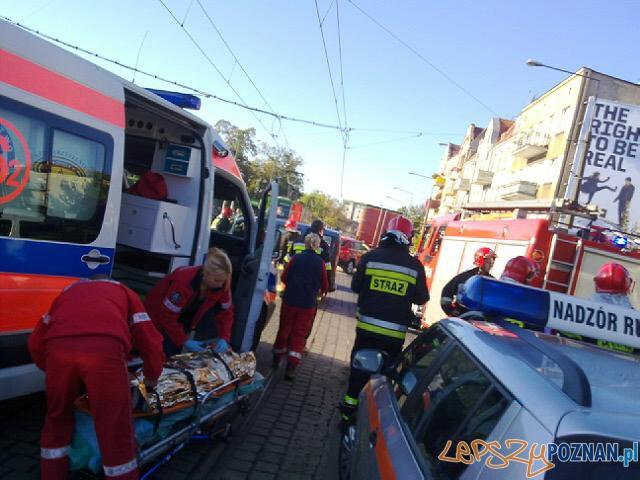 Wypadek na Głogowskiej przy Palacza  Foto: lepszyPOZNAN.pl / gsm