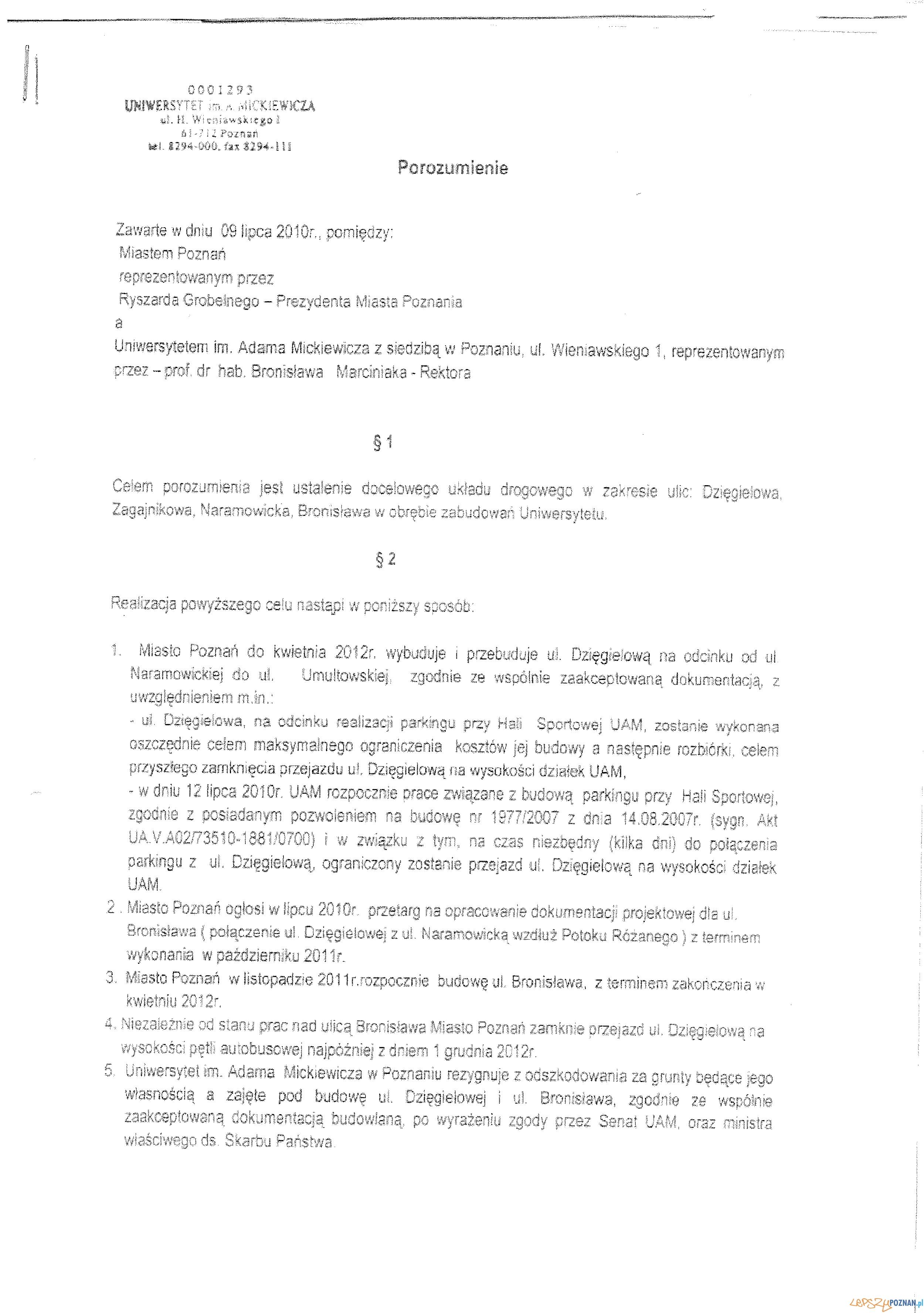 Porozumienie między Miastem a UAM  Foto: Porozumienie między Miastem a UAM