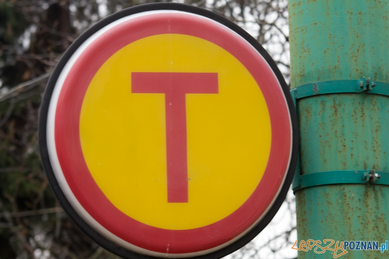 Tramwaj - znak przystanku  Foto: lepszyPOZNAN.pl / Piotr Rychter