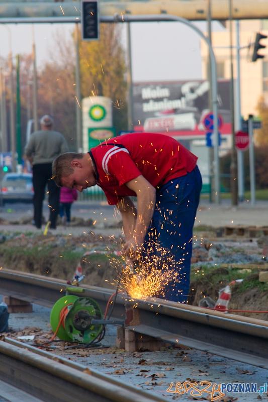 Remont ronda Jana Nowaka Jeziorańskiego  Foto: lepszyPOZNAN.pl / Piotr Rychter