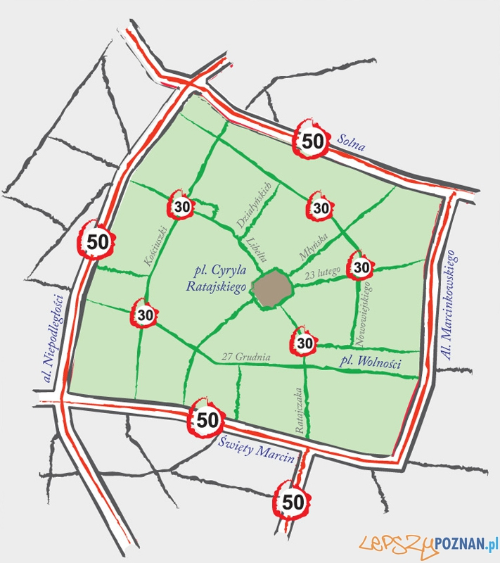 """""""Strefa 30"""" - pierwszy etap do końca kwietnia 2012 r.  Foto: ZDM"""