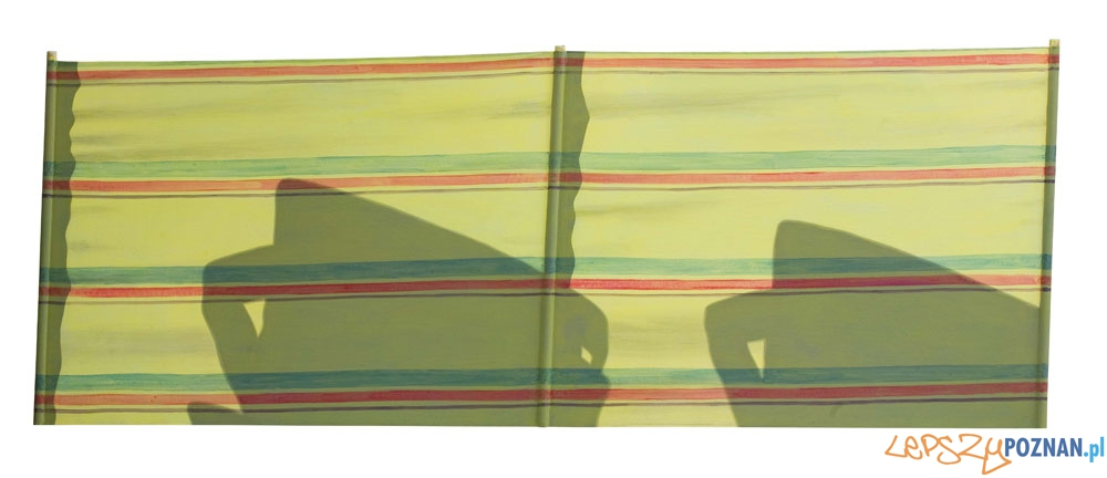 Andrzej Okińczyc, Parawan 3, 2007, akryl, 85 × 227 cm  Foto: Muzeum Narodowe w Poznaniu