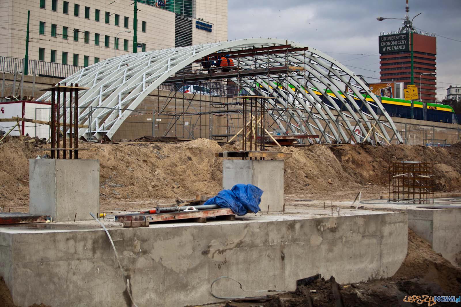 Elementy konstrukcji Dworca Głownego  Foto: Poznan City Center
