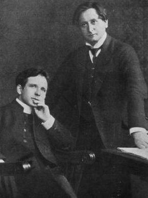 Ksiądz Wacław Gieburowski i Feliks Nowowiejski  Foto: