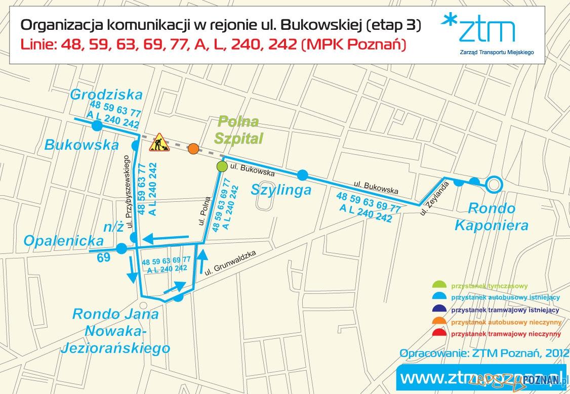 Zmiany na ulicy Bukowskiej  Foto: ZTM