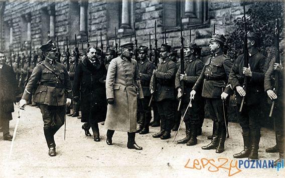 Piłsudski w Poznaniu  Foto: Ze zbiorów Wielkopolskiego Muzeum Walk Niepodległościowych w Poznaniu.