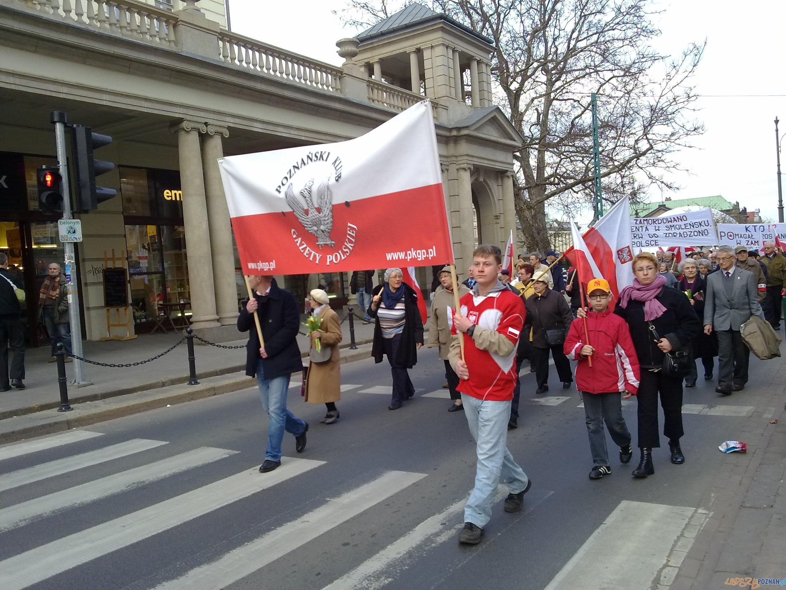 Uczestnicy Marszu Gazety Polskiej  Foto: