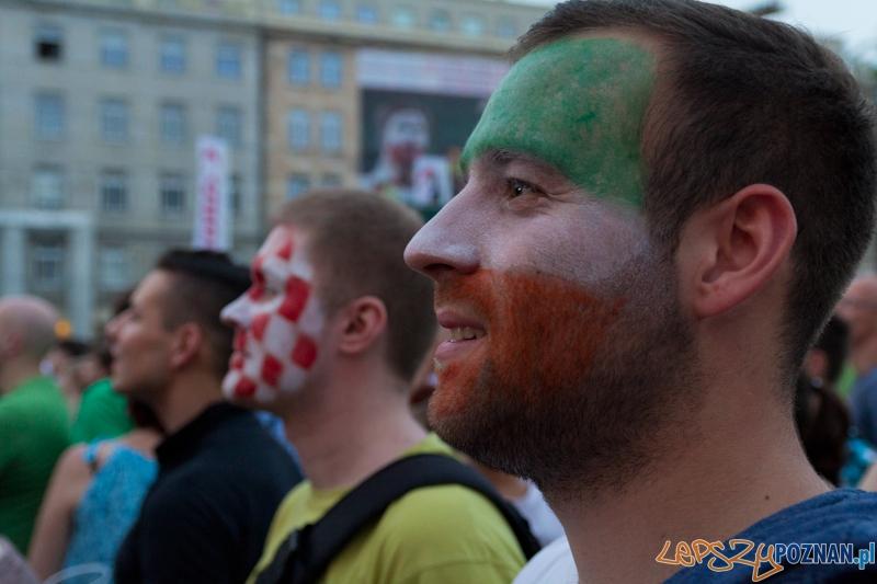 Włochy - Irlandia - doping w Oficjalnej Strefie Kibica UEFA EURO Poznań 2012  Foto: lepszyPOZNAN.pl / Piotr Rychter