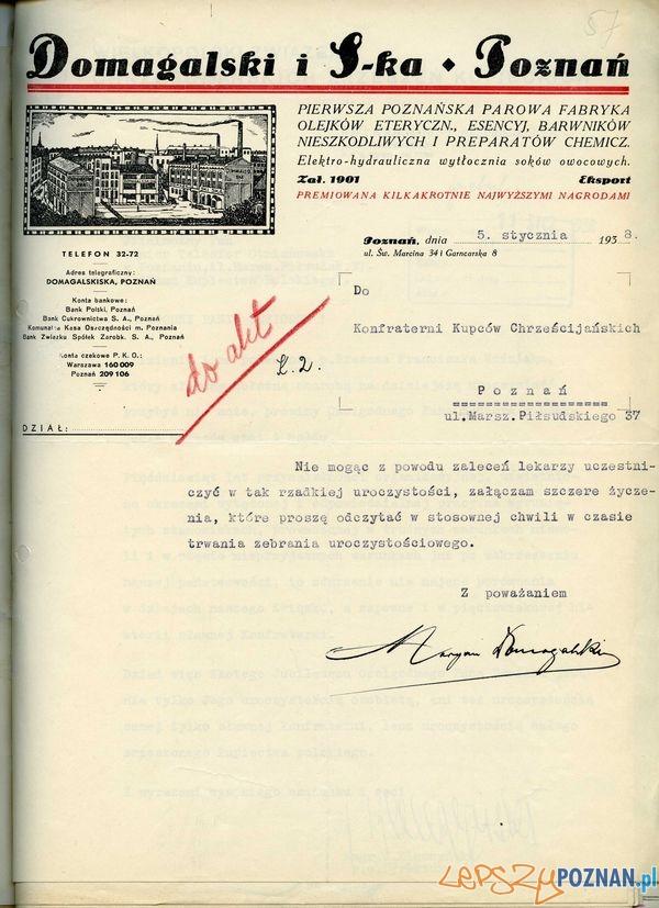 Domagalski i Ska, Św. Marcin 63  Foto: Muzeum Narodowe w Poznaniu, wystawa Miejska ikonosfera na drukach reklamowych z widokami Poznania 18