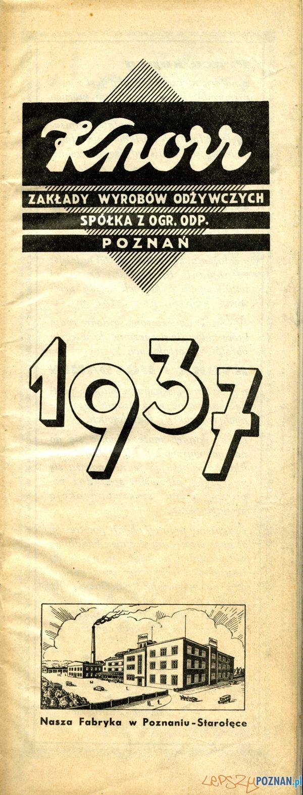 Knorr Starołęcka 42, 1937  Foto: Muzeum Narodowe w Poznaniu, wystawa Miejska ikonosfera na drukach reklamowych z widokami Poznania 18