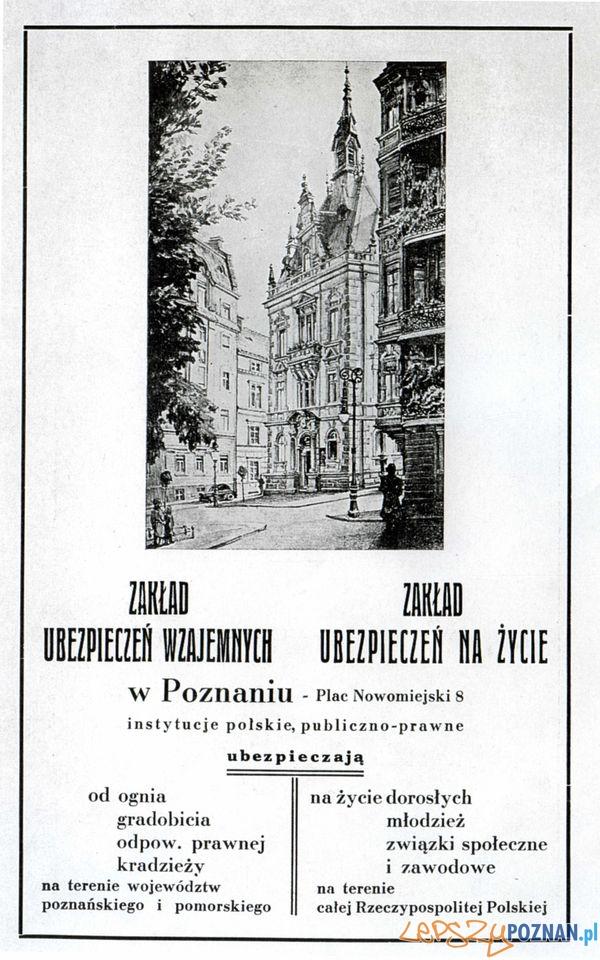 PZU, Pl. Kólewski 8_ 1939  Foto: Muzeum Narodowe w Poznaniu, wystawa Miejska ikonosfera na drukach reklamowych z widokami Poznania 18