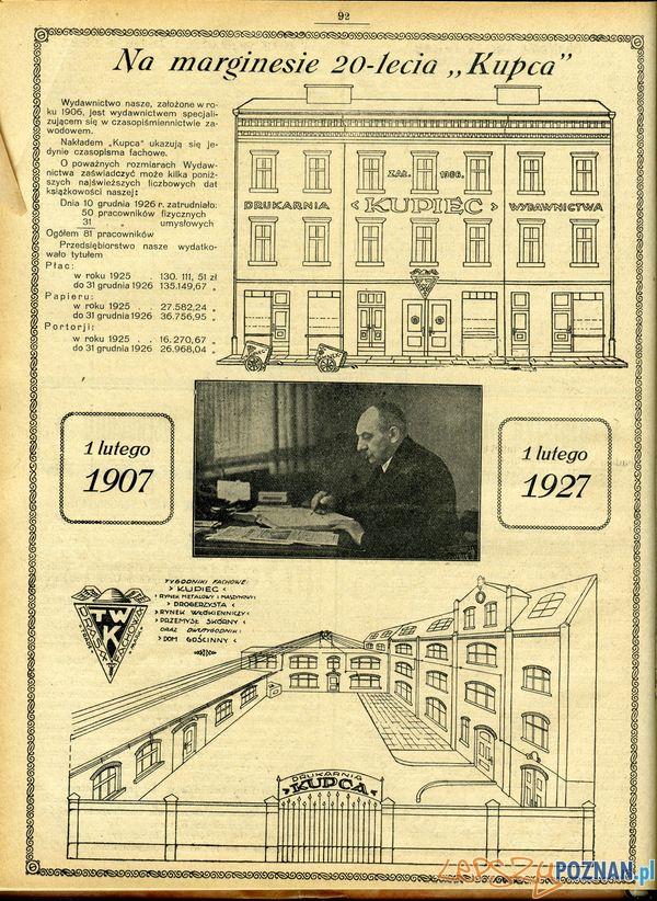 Wielka 10_ Kupiec nr 5, 4 II 1927, s. 92  Foto: Muzeum Narodowe w Poznaniu, wystawa Miejska ikonosfera na drukach reklamowych z widokami Poznania 18