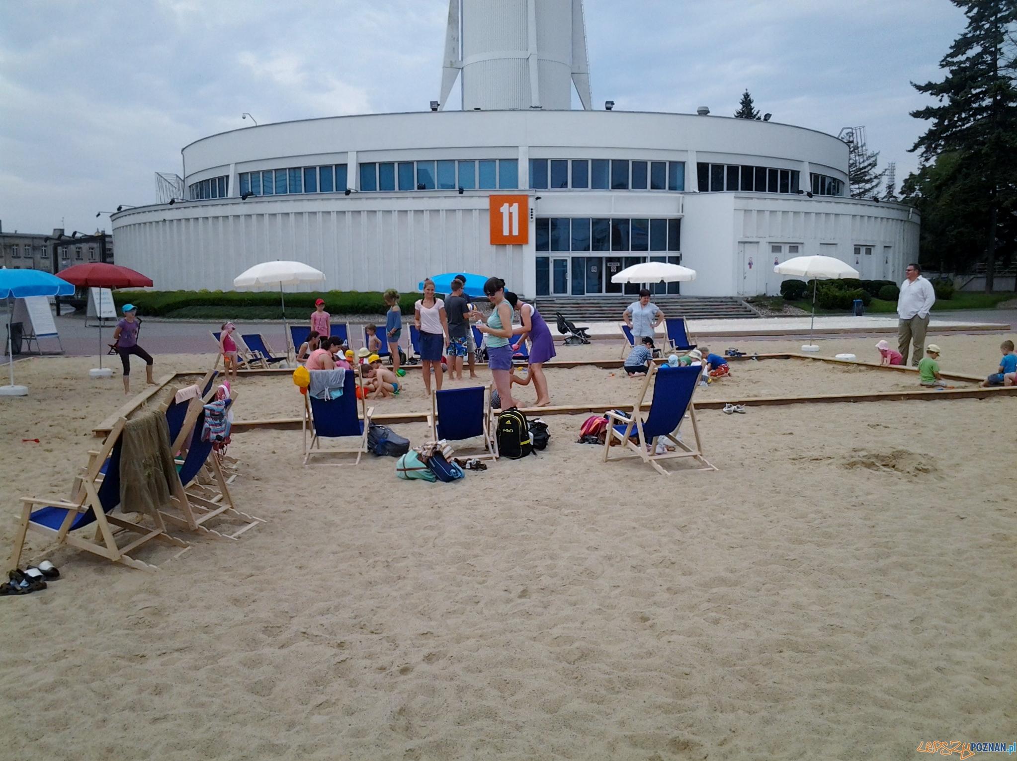 Plaża na MTP  Foto: lepszyPOZNAN.pl / gsm