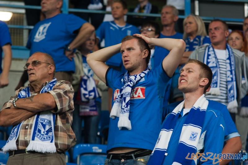 Eliminacje Ligi Europejskiej - Lech Poznań - AIK Solna. Stadion Miejski 9.08.2012 r. - najlepsi kibice  Foto: lepszyPOZNAN.pl / Piotr Rychter
