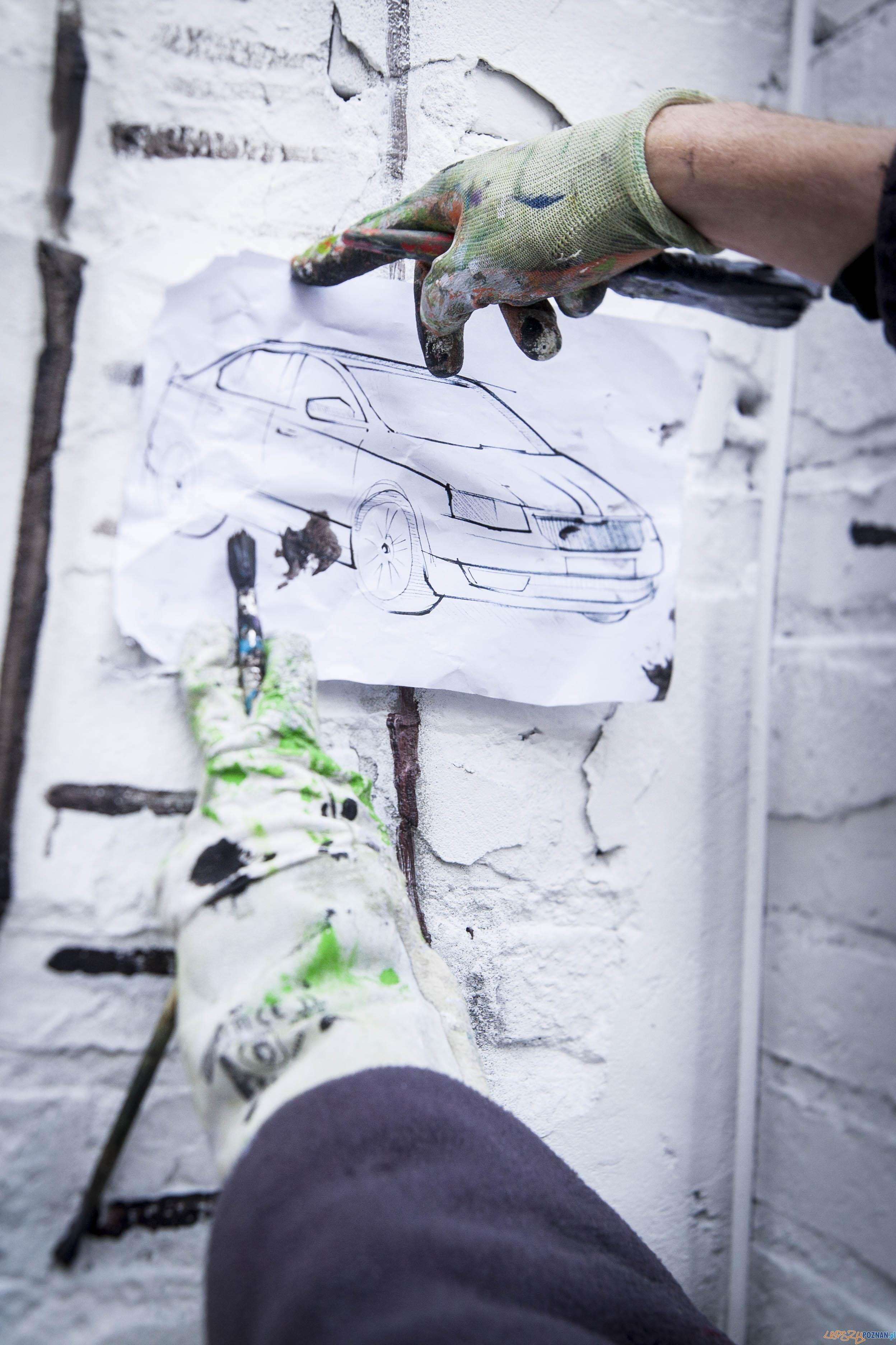Mural w Warszawie w ramach akcji mappingu  Foto: