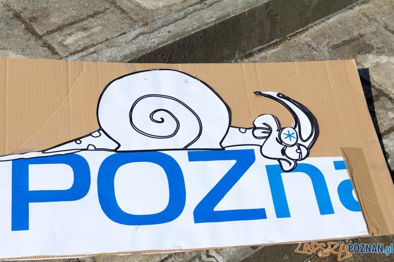 Rowerowe powitanie wiosny - tegoroczna marzanna rowerzystów  Foto: lepszyPOZNAN.pl / Piotr Rychter