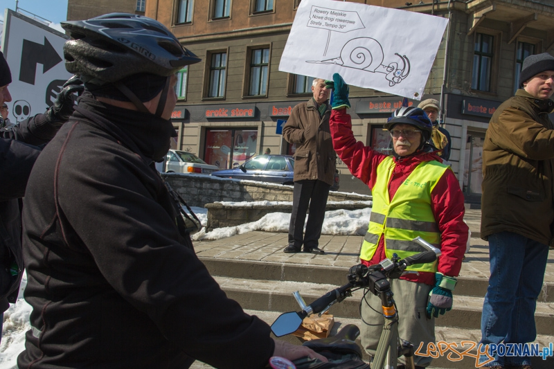 Rowerowe powitanie wiosny - prezentacja tegorocznej marzanny rowerzystów  Foto: lepszyPOZNAN.pl / Piotr Rychter