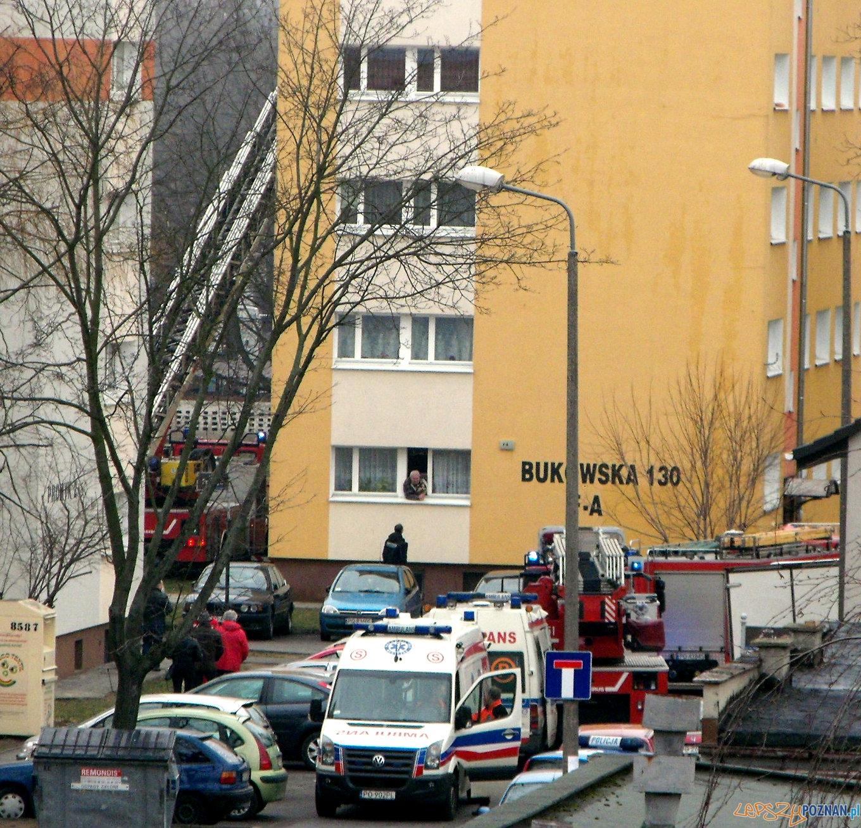 Pożar na Bukowskiej  Foto: Janusz