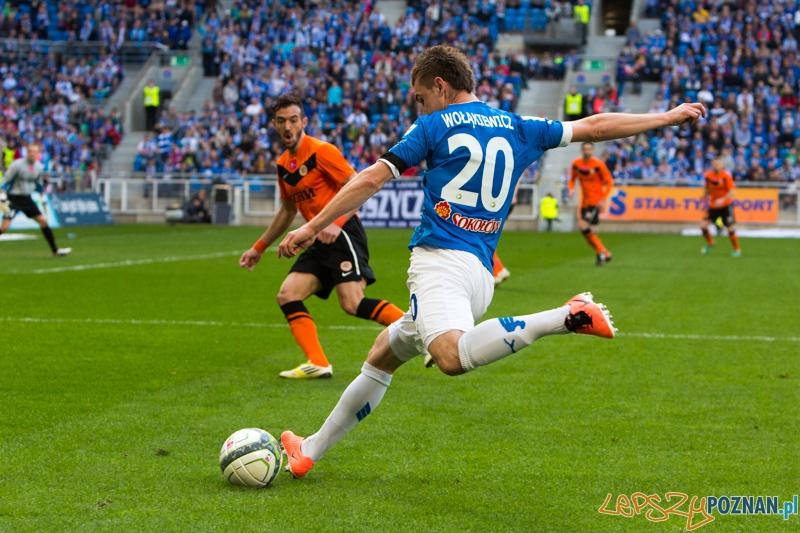 Lech Poznań - Zagłebie Lubin - Stadion Miejski 21/04.2013 r. - Huber Wołąkiewicz, Pavel Vidanov  Foto: lepszyPOZNAN.pl / Piotr Rychter