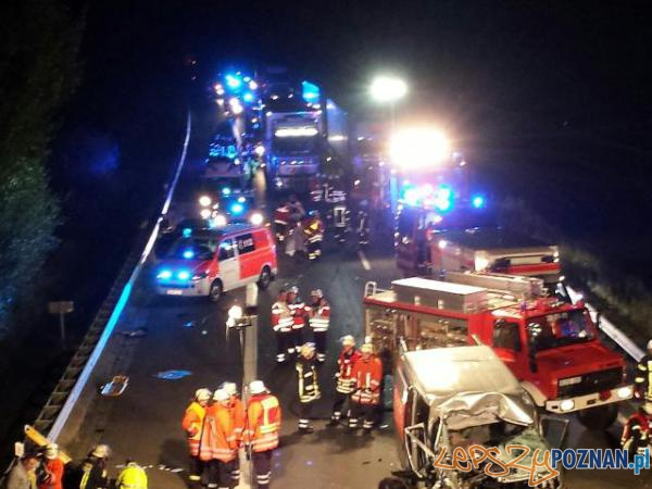 Wypadek polskiego busa w Niemczech  Foto: NDR