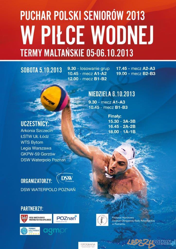Puchar Polski 2013 w piłce wodnej  Foto: