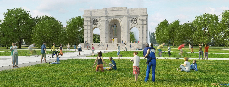 Wizualizacja odbudowanego Pomnika  Foto: Społeczny Komitet Odbudowy Pomnika