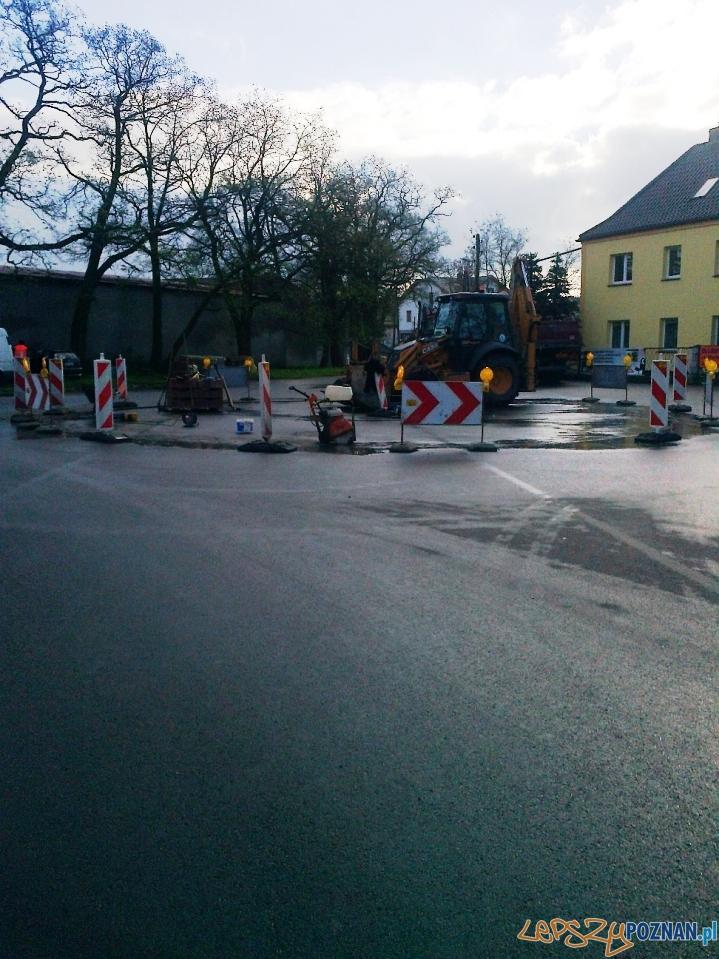 Budowa ronda w Krzesinach  Foto: ZDM