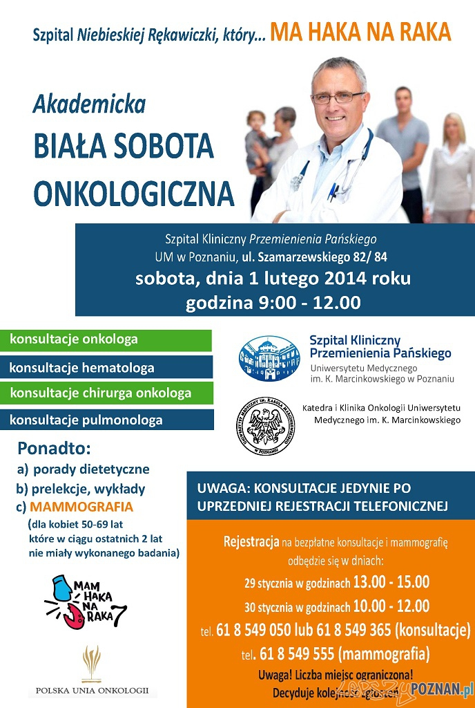 Biała Sobota 1.02.2014 (plakat)   Foto: Szpital Kliniczny Przemienienia Pańskiego w Poznaniu