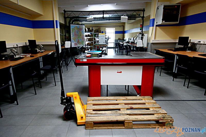 Laboratorium Technik Logistyk. Stanowisko kasowe.  Foto: Przemysław Kozakiewicz