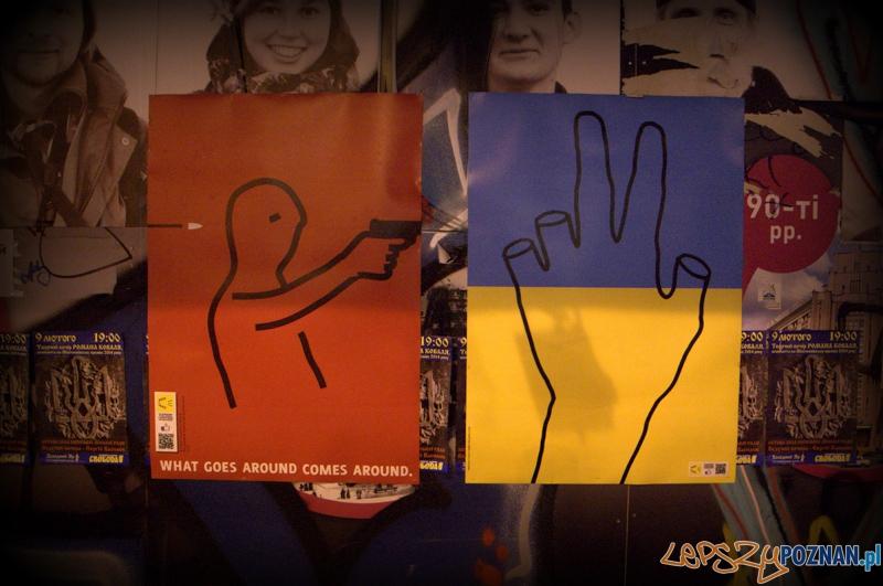 Ukraińscy artyści bardzo mocno zaangażowali się w moralne wsparcie zmian w ich kraju.  Foto: lepszyPOZNAN.pl / Mathias Mezler
