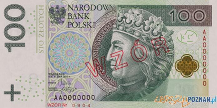 Zmodernizowany banknot 100 zł  Foto: NBP