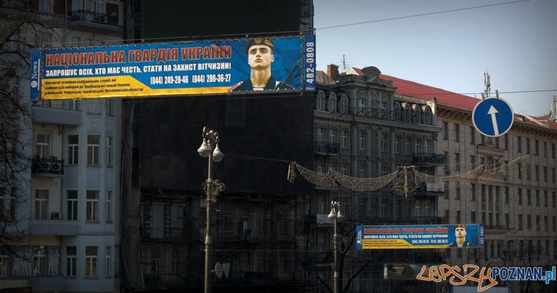 Gwardia narodowa Ukrainy zachęca bojowników różnych opcji do wstąpienia w jej szeregi.   Foto: lepszyPOZNAN.pl / Mathias Mezler