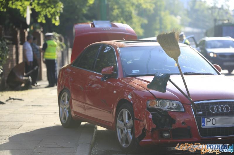 Poważny wypadek na Grunwaldzkiej  Foto: lepszyPOZNAN.pl / Piotr Rychter