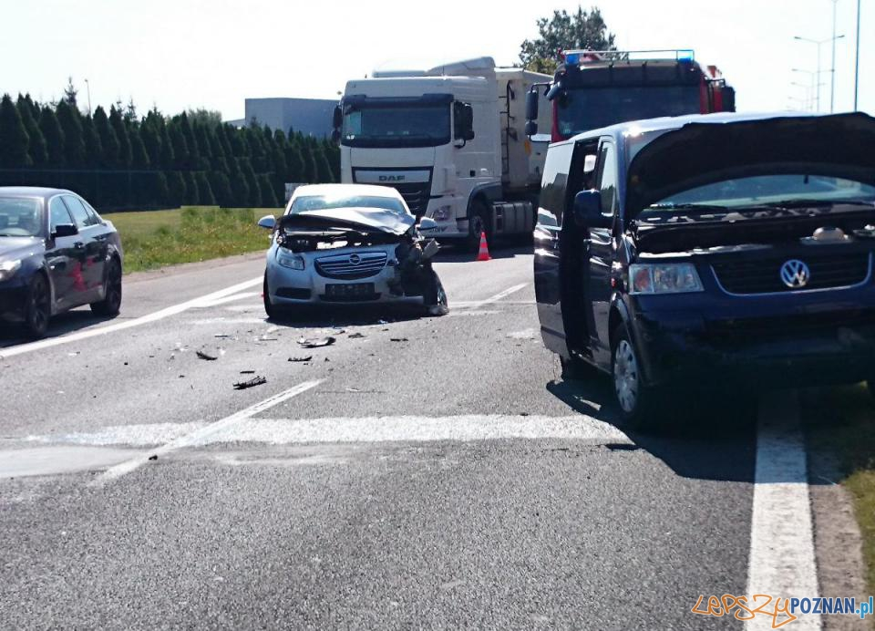 Wypadek na ul. Krzywoustego  Foto: JRG 6 / mł. kpt. Paweł Zieliński