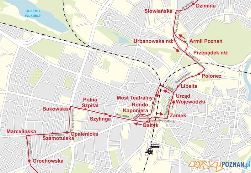zmiana trasy linia 69  Foto: ZTM
